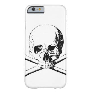 Black & White Skull & the Bones Barely There iPhone 6 Case