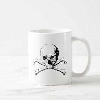 Black & White Skull & the Bones Coffee Mug