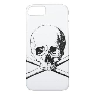 Black & White Skull & the Bones iPhone 8/7 Case