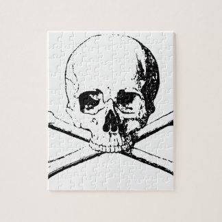 Black & White Skull & the Bones Jigsaw Puzzle