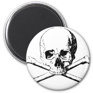 Black & White Skull & the Bones Magnet