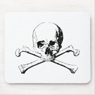 Black & White Skull & the Bones Mouse Pad