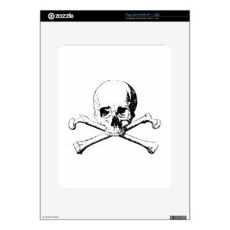 Black & White Skull & the Bones Skin For iPad