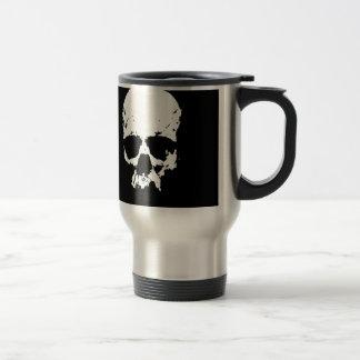 Black & White Skull Travel Mug