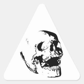 Black White Skull Triangle Sticker