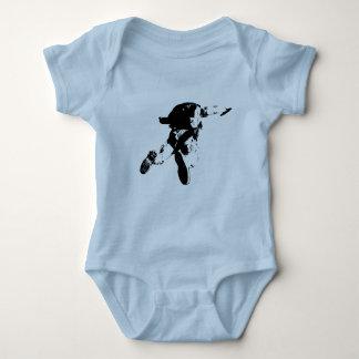 Black & White Skydiving Baby Bodysuit