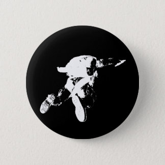 Black & White Skydiving Button