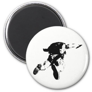 Black & White Skydiving Magnet