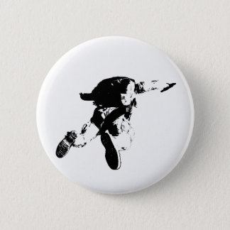 Black & White Skydiving Pinback Button