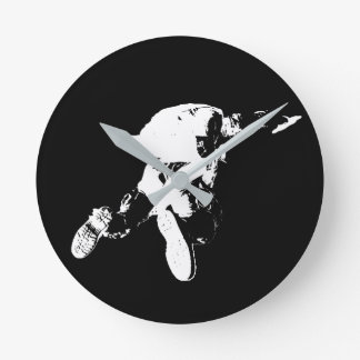 Black & White Skydiving Round Clock