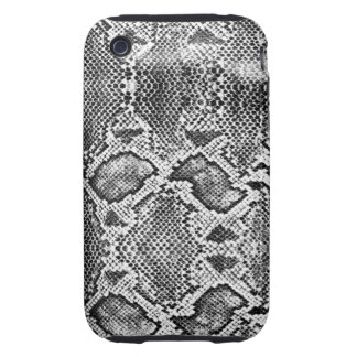 Black & White Snakeskin Pattern Tough iPhone 3 Case