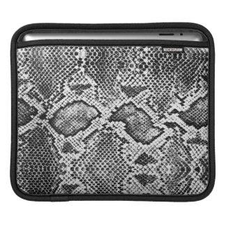 Black & White Snakeskin Pattern Sleeve For iPads