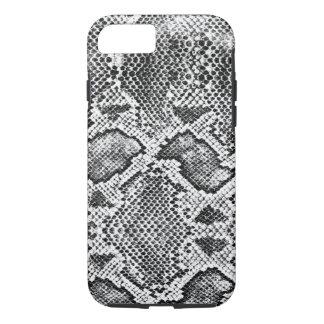 Black & White Snakeskin Pattern iPhone 7 Case