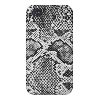 Black & White Snakeskin Pattern iPhone 4/4S Covers