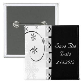 Black & White Snowflake Wonderland Set Button