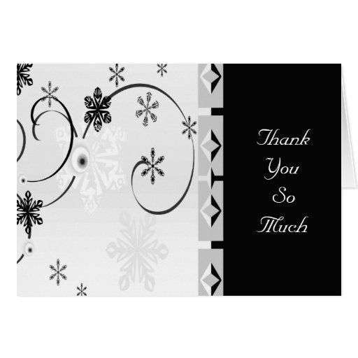 Black & White Snowflake Wonderland Set Card
