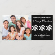 Black/White Snowflakes - Photo Card