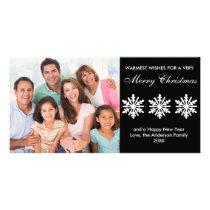 Black/White Snowflakes - Photo Card