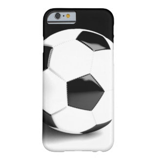 Black White Soccer Ball Barely There iPhone 6 Case