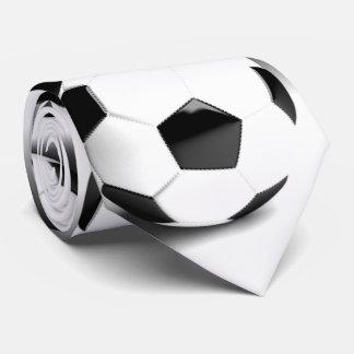 Black White Soccer Ball Neck Tie