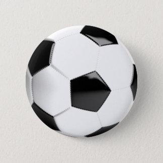 Black & White Soccer Ball Pinback Button