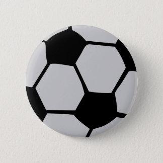 black white soccer ball pinback button