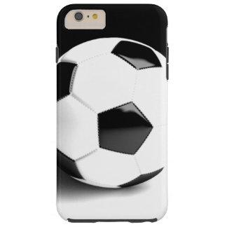 Black White Soccer Ball Tough iPhone 6 Plus Case