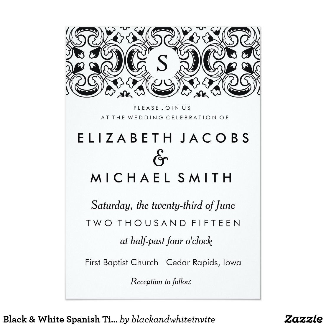 Formal Wedding Invitation Wording with best invitations layout