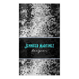 Black & White Sparkles & Glitter Pattern Double-Sided Standard Business Cards (Pack Of 100)