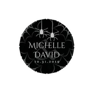Black & White Spiders Halloween Wedding Names