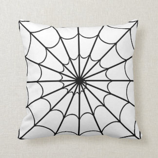 Black & White Spiders Web American MoJo Pillows