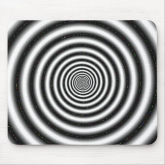 Black & White Spiral Optical Illusion Mouse Pad