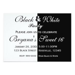 Half birthday invitations zazzle black white split half birthday party invitation filmwisefo
