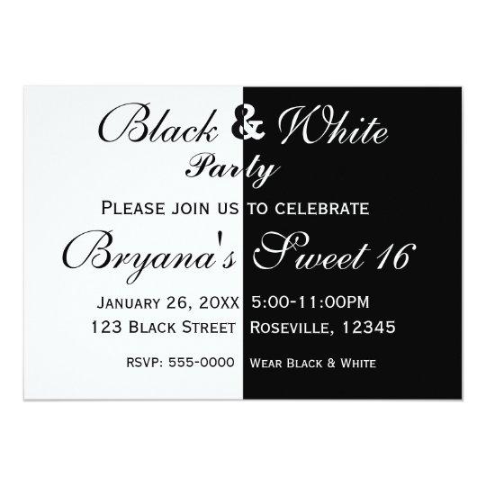 Black white split half birthday party invitation zazzle black white split half birthday party invitation filmwisefo