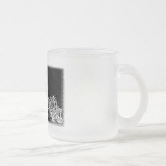 Black & White Spooky Glass Chess Board Game 10 Oz Frosted Glass Coffee Mug