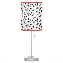 Black & White Spotted Dalmatian Animal Pattern Table Lamp