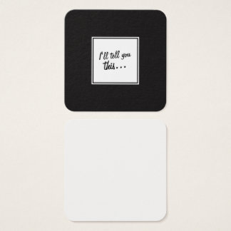 Black & White Square Notes for Leaving Messages / Square Business Card
