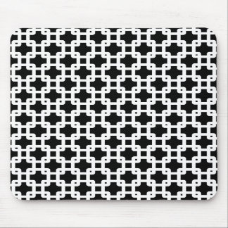 Black & White Square Pattern Mouse Pad