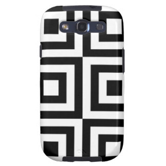 Black White Square Tiled Geometric Mod Op Pattern Galaxy SIII Cover
