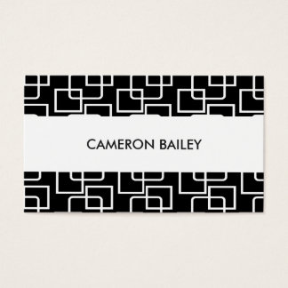 Black + White Squares pattern card