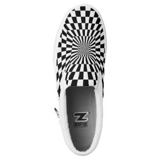 Black & White Squares Printed Shoes
