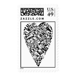 Black & white Stamp