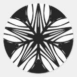 Black White Star Sticker Decal Fractal