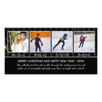 Black/White Stars 4 Photos - Christmas Photo Card