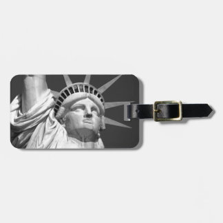 Black & White Statue of Liberty Bag Tag