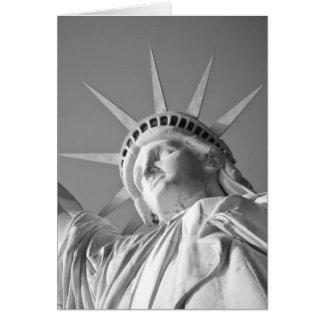 Black White Statue of Liberty Card