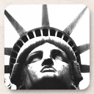 Black & White Statue of Liberty Drink Coaster
