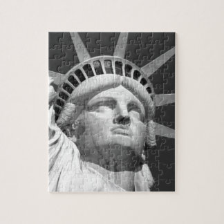 Black & White Statue of Liberty Jigsaw Puzzle