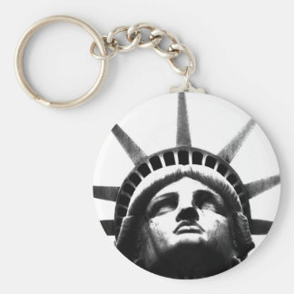 Black & White Statue of Liberty Keychain