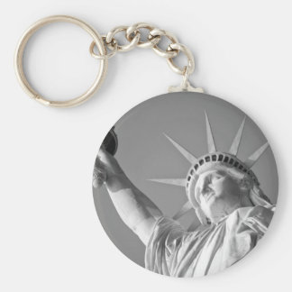 Black White Statue of Liberty Keychain